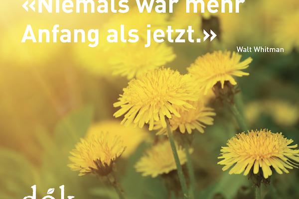 Frühlingskarte Frontseite