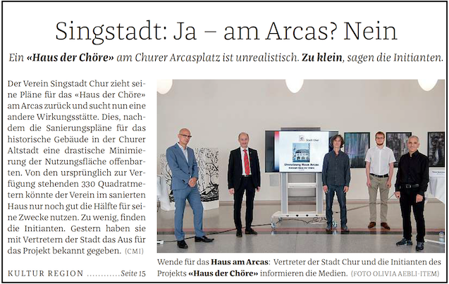 Medienarbeit «Singstadt Chur»